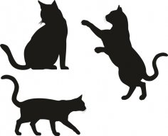 Cat Silhouette Vectors CDR File