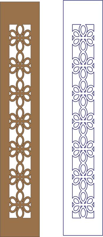 Flower decorative frame pattern dxf File
