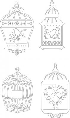 Bird Cage Vectors CDR File