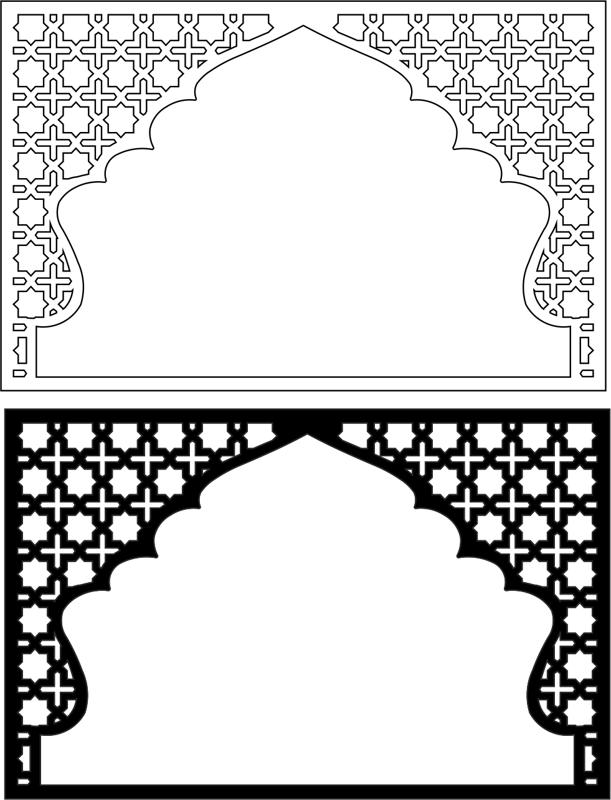 Moroccan Pattern Vector Art EPS File