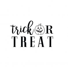 Trick Or Treat dxf File
