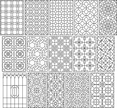 DXF Pattern Collection DXF File
