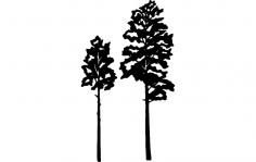 Aspen Tree Vector dxf File