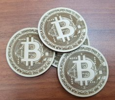 Bitcoin logo dxf File
