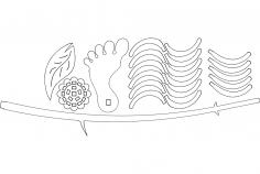 Wooden Flower dxf File