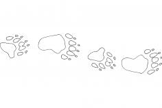 Bear camp tracks dxf File