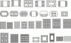 中式 窗花 CDR File