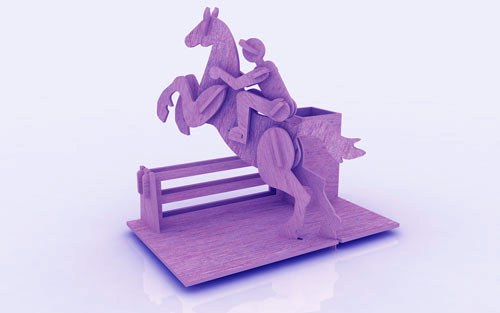 Horse Riding Pen Holder Stand 3mm Free Vector