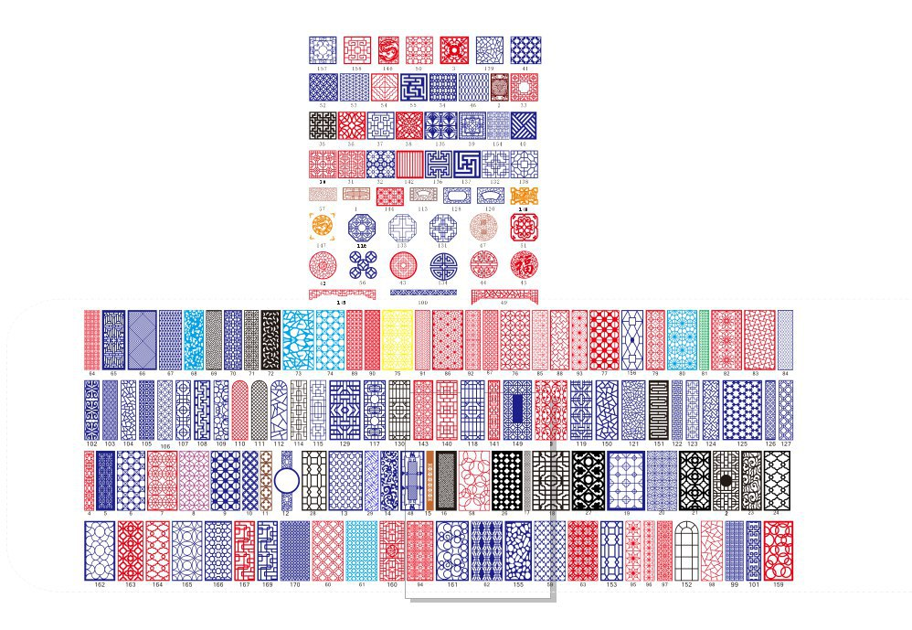 All Kinds Of China Pattern Free Vector