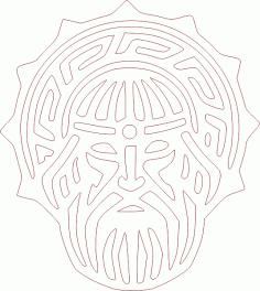 Лик Сварог для гравирвки DXF File