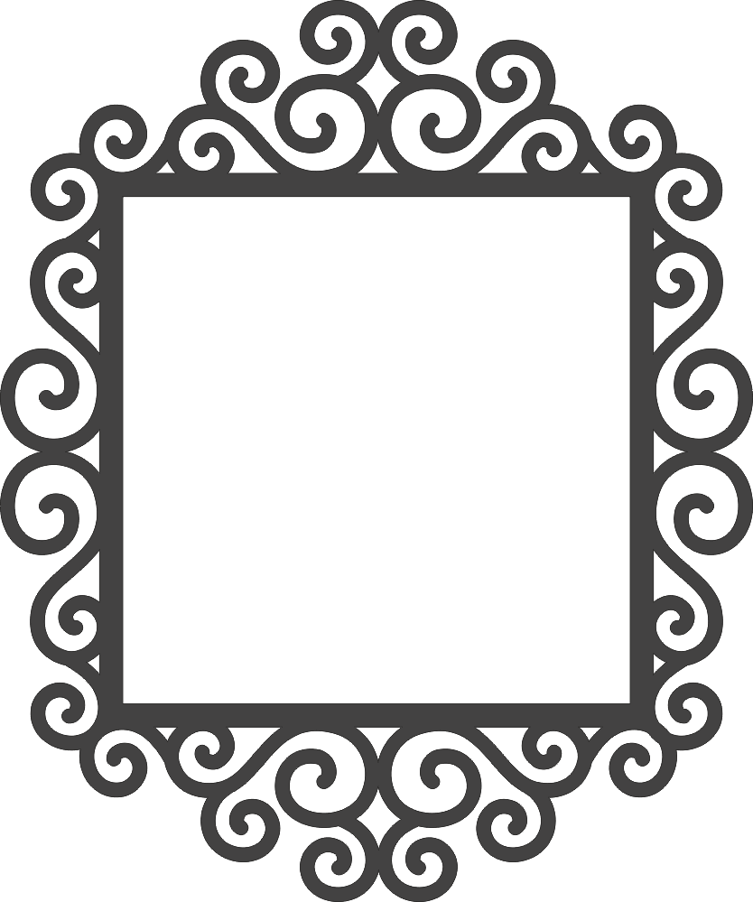 Swirly Frame DXF File