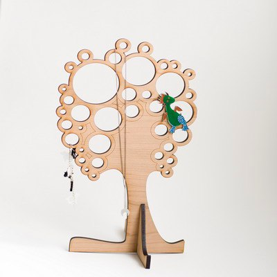 Tree Jewelry Stand Free Vector