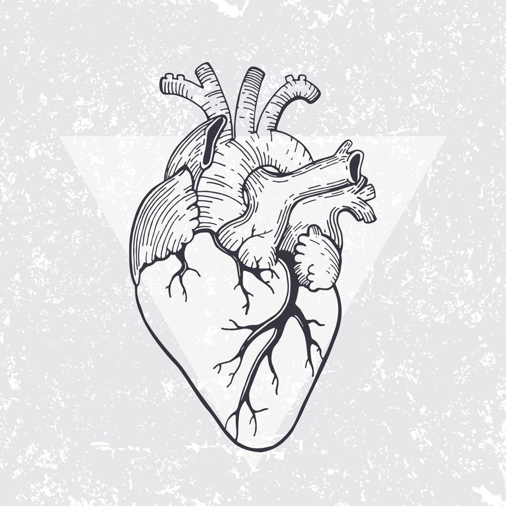 Heart Triangle Print Free Vector