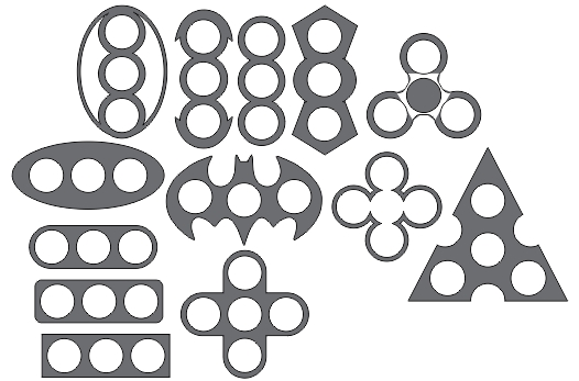 Spinner Varios Modelos Free Vector