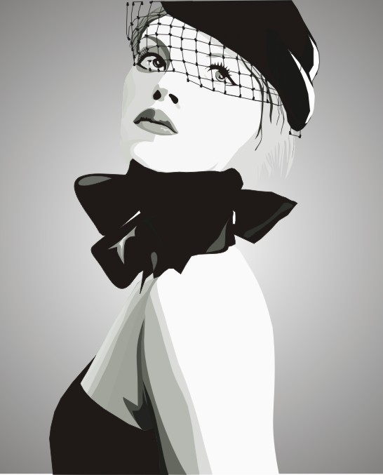 Fashion Girl Vector CDR File