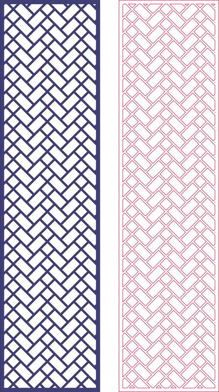 Laser Cut Decorative Screen Geometric Pattern dxf File