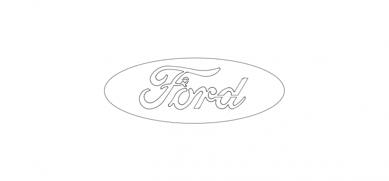 Ford Logo wire dxf File