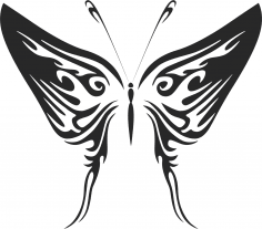 Butterfly Tribal Free Vector