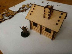 Small Log Cabin dxf File