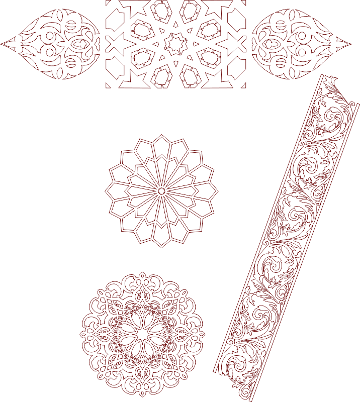 Seamless Islamic Moroccan patterns DXF File