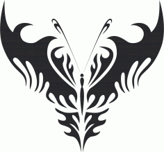 Tribal Butterfly Vector Art 24 DXF File