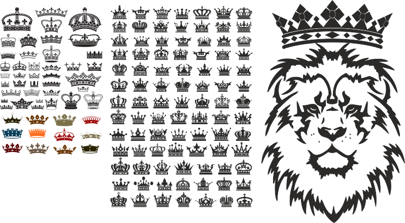 Crown Free Vector Art Free Vector