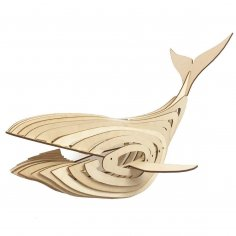 Laser Cut Whale Lamp 4mm DXF File