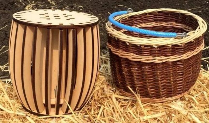 Laser Cut Basket Mold DXF File