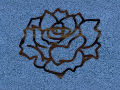 Rose Wall Accent dxf file