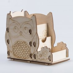 Laser Cut Owl Pen Holder Office Desk Organizer Free Vector