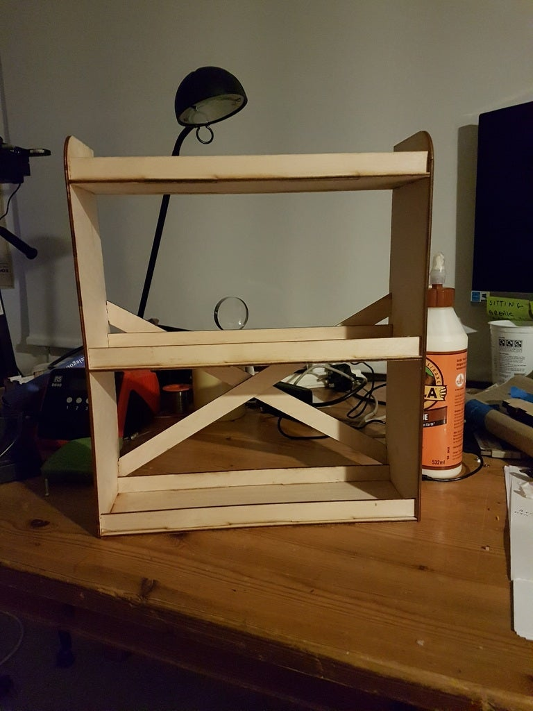 Laser Cut Spice Rack 3mm Plywood DXF File
