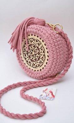 Laser Cut Crochet Wooden Base Crochet Accessories Free Vector