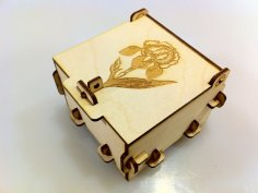 Laser Cut Pinned Box DXF File