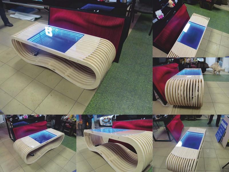 Laser Cut Modern Table Free Vector