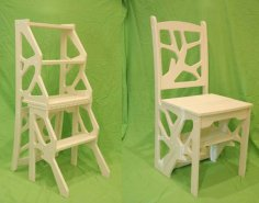 Step Ladder Chair DXF File