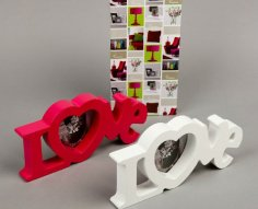 Laser Cut Love Heart Photo Frames Free Vector