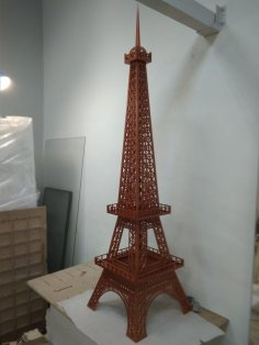 Laser Cut Eiffel Tower 6mm Free Vector