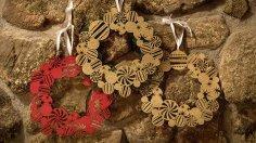 Laser Cut Christmas Wreath Template Free Vector