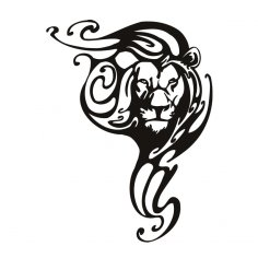 Laser Cut Lion Wall Art SVG File