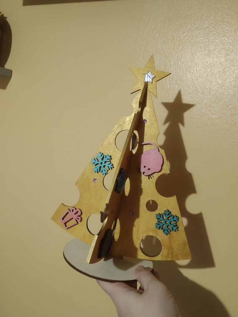 Laser Cut Christmas Tree Cheese Template Free Vector