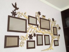 Laser Cut Family Tree Photo Frames Free Vector