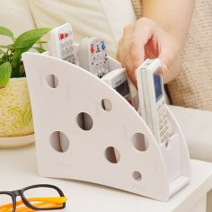 Laser Cut Desk Remote Control Holder Storage Box DXF File