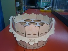 Laser Cut Easter Bucket Basket Template Free Vector