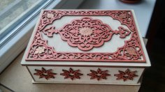 Laser Cut Decorative Jewelry Box Free Vector