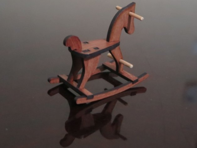 Laser Cut Rocking Horse 6mm MDF DXF File