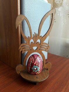 Laser Cut Easter Bunny Egg Holder Free Vector