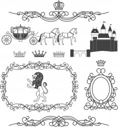 Royal Wedding Set Free Vector