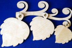 Laser Cut Leaf Shape Chopping Boards Plywood Free Vector