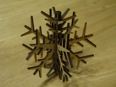 Decorative Plywood Snowflake DXF File