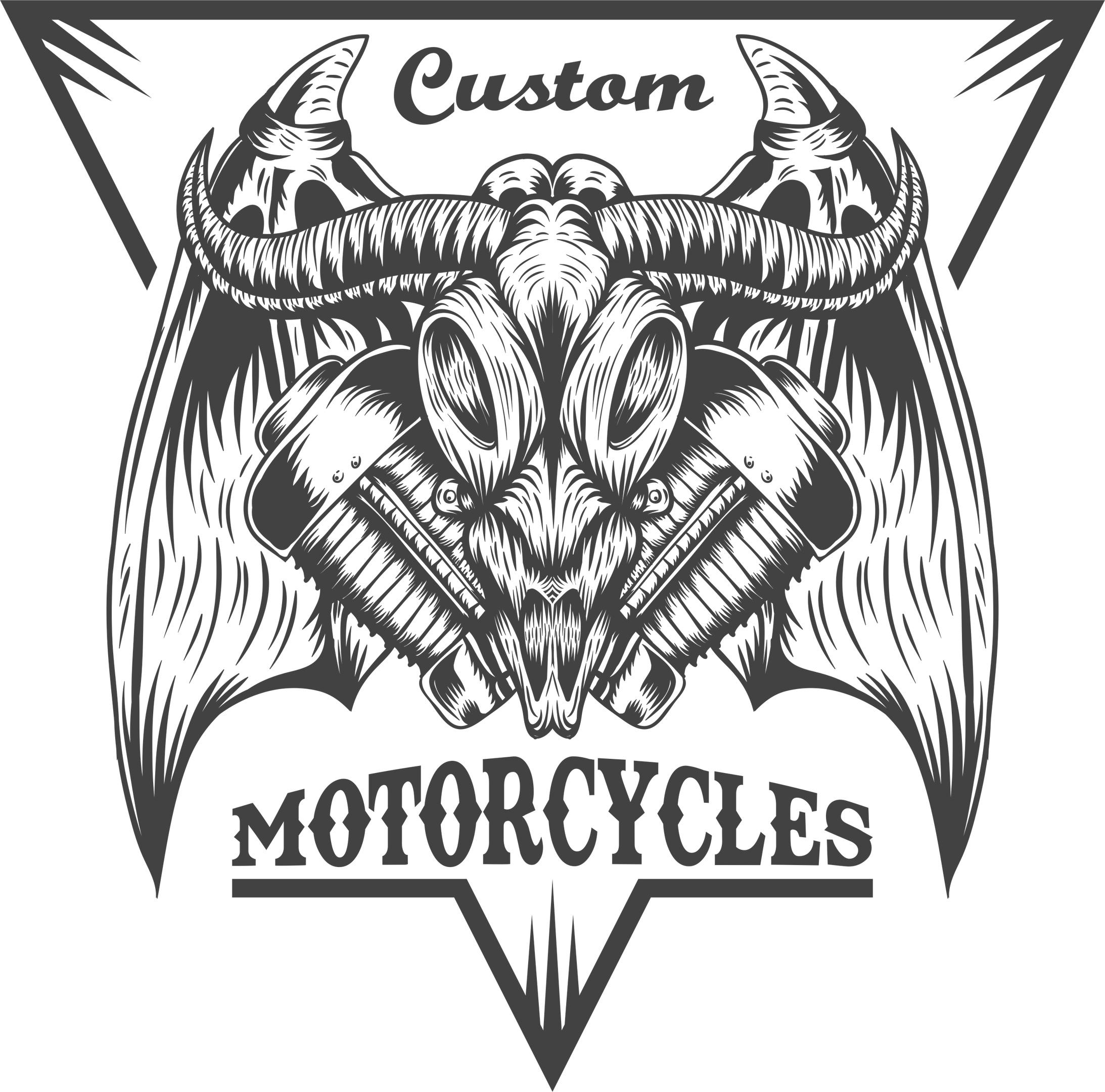Bull Moto Sticker Free Vector